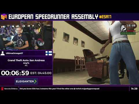 #ESA17 Speedruns - Grand Theft Auto: San Andreas [Any%] By UltimaOmega07