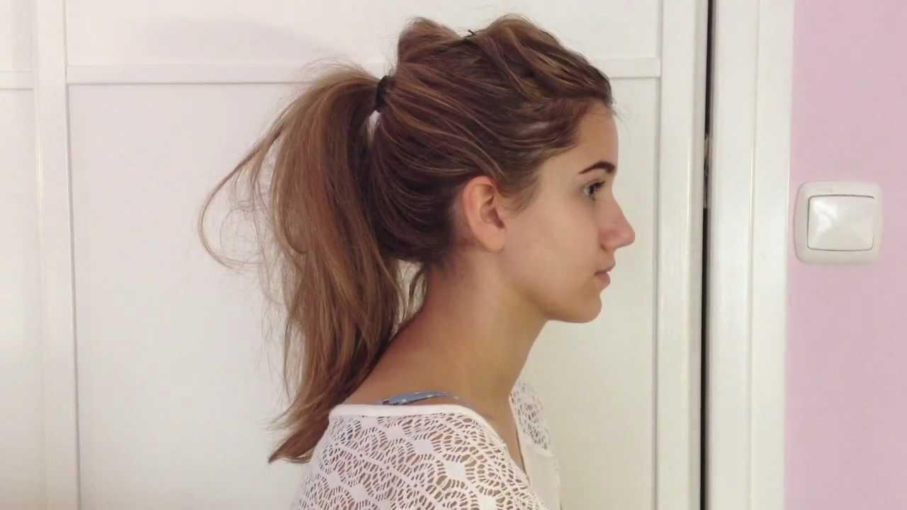 Peinados coleta con volumen c mo hacer una coleta con - Como realizar peinados ...