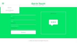 Web Design Speed Art - Flat Contact Page in Adobe Xd