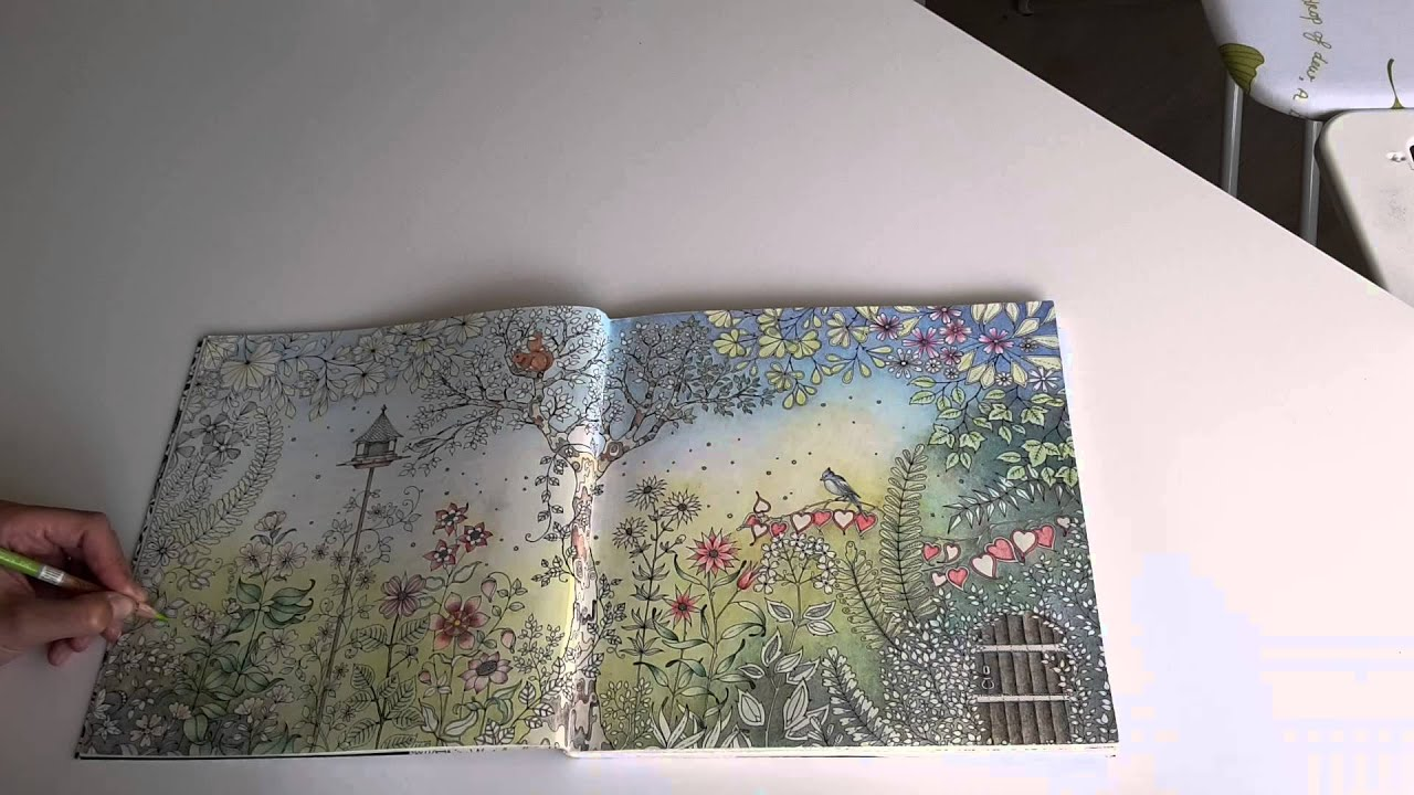 colouring secret garden the morning garden 6 youtube - My Secret Garden Coloring Book