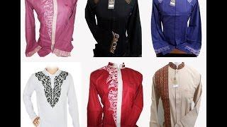 Contoh Motif Desain Baju Muslim Koko Pria Dewasa Model Terbaru