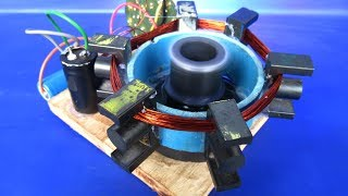 New Free energy electric With Self running Machine 2018 - DIY project DC motor 220v AC To 12v DC