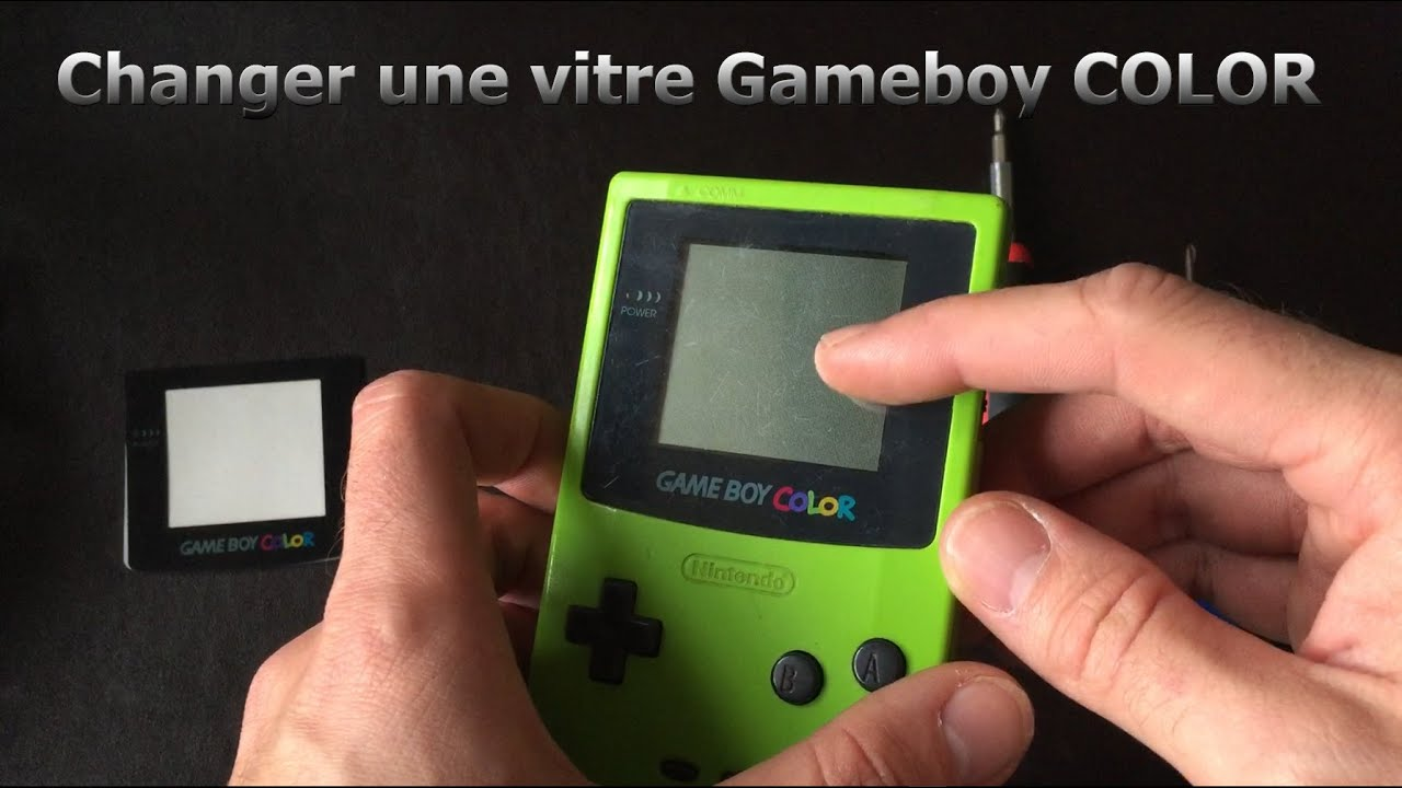 comment changer la vitre cran d 39 une gameboy color youtube. Black Bedroom Furniture Sets. Home Design Ideas