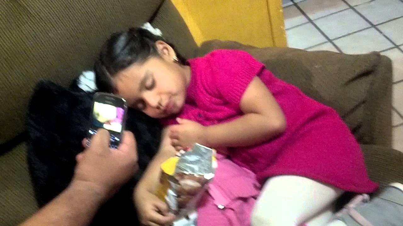 Mi sobrina dormida