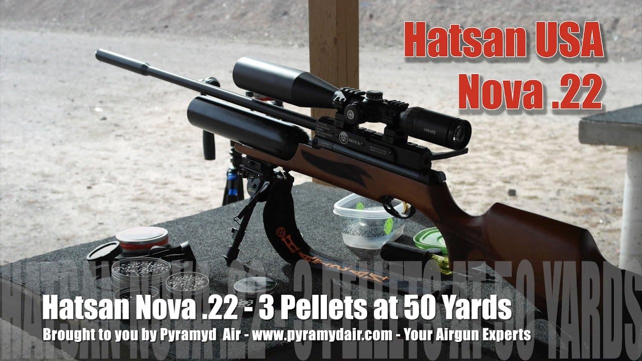 Hatsan Nova Review Part 2 - 50 yard accuracy: 18 13 JSB, GTO Hunting  Pellets, H&N Sniper Magnums!