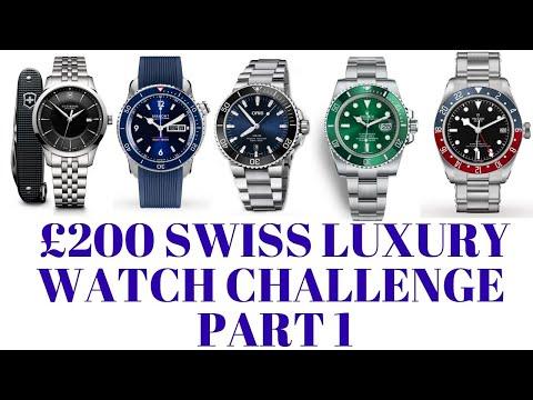 £200 Luxury Swiss Watch Challenge [part 1] Swiss Watch, Seiko 5 Price!
