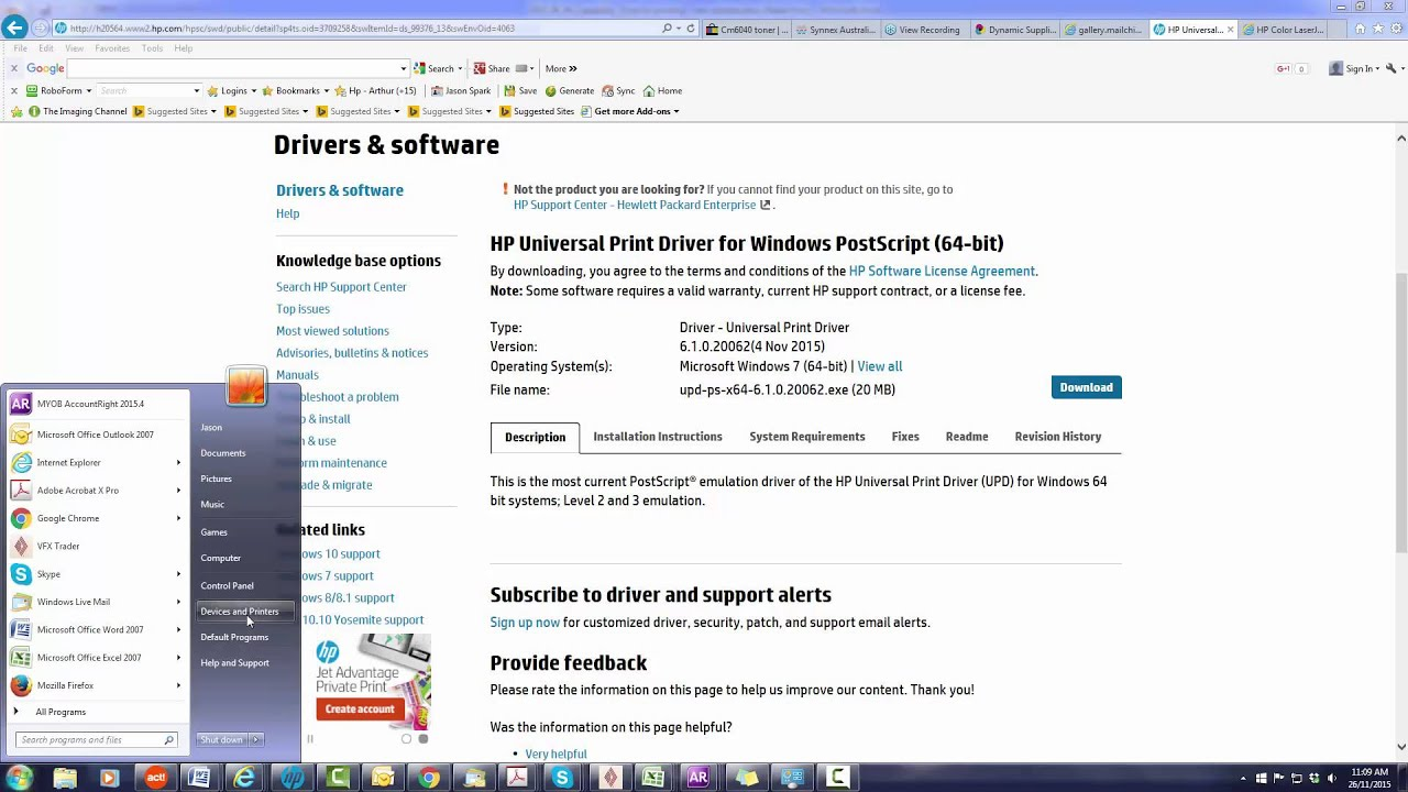 How To Install HP Universal Print Drivers On Windows