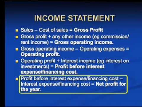 Grade 10 - Accounting - Lesson 28 - Financial Statements 1