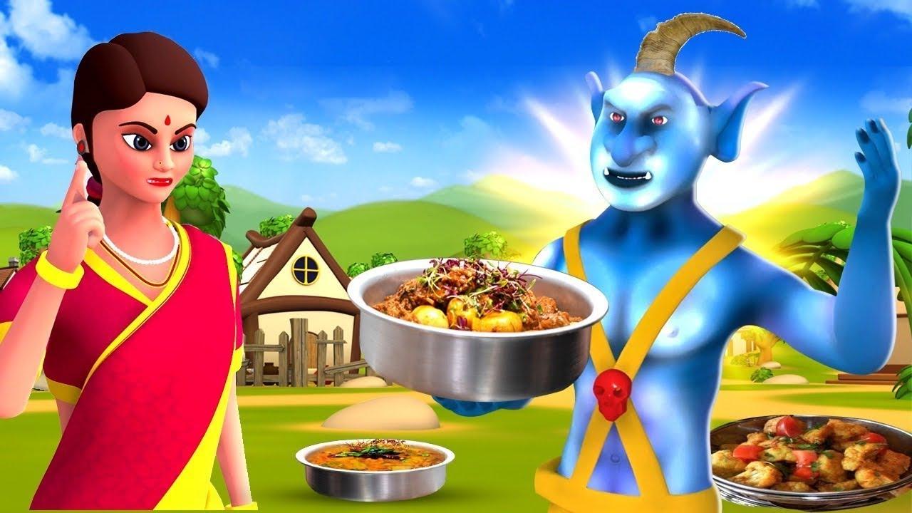 ஒரு கொம்பு பிசாசு - One-Horned Devil Story | 3D Animated Tamil Moral Stories | Maa Maa TV Videos
