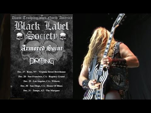 Black Label Society tour 2021 w/ Armored Saint and Prong + tour w/ Obituary and Prong!