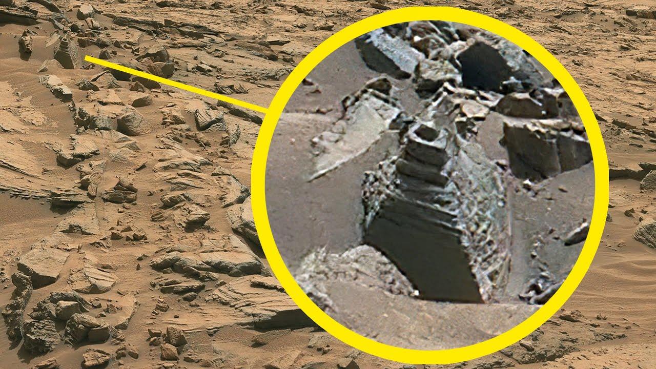 Posibles ruinas antiguas capturadas en suelo marciano en el día o sol 1373 de la misión Mars