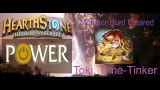 Toki, Time-Tinker Monster Hunt Cleared | Witchwood Solo Adventure Strategy | Hearthstone Power