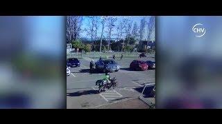 Mecheros y guardias de supermercado protagonizaron violenta pelea - CHV Noticias