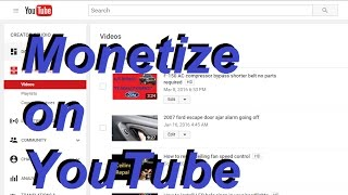 How to Monetize YouTube videos 2017  - Make money on YouTube