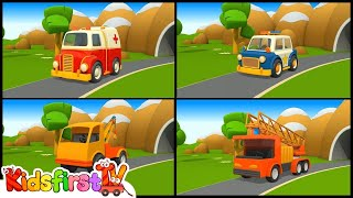 rescue trucks vehicles 3d learning cartoons childrens videos английский для детей