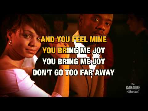 "You Bring Me Joy in the Style of ""Anita Baker"" with lyrics (no lead vocal)"
