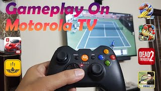 Gaming on Motorola TV Part 3 | Gameplay of supported games #Motorola Tv Gaming