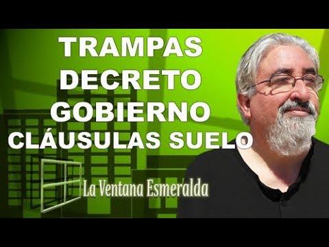 Las trampas del decreto del gobierno sobre las cl usulas for Decreto clausula suelo