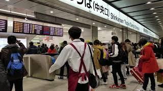 2019/1/1東海道新幹線新大阪駅改札口解放の瞬間