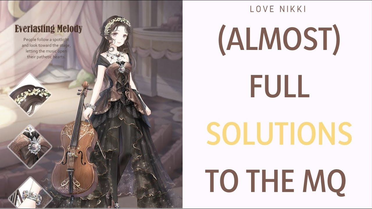 Love Nikki Almost Full Solutions To Star Lily Case Files Multiple Choice Questions Youtube