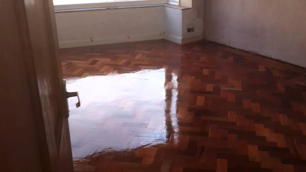 Parquet Flooring Wirral Mahogany Block Floor Sanded And Sealed In
