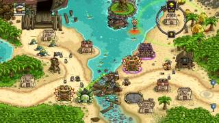 Kingdom Rush Frontiers Walkthrough Level 16 Port Tortuga [Normal] [3 Stars]