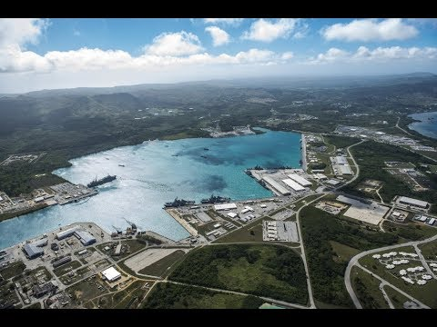 Naval Base Guam is a strategic U.S. naval base located on Apra Harbor, Guam, Pacific Ocean