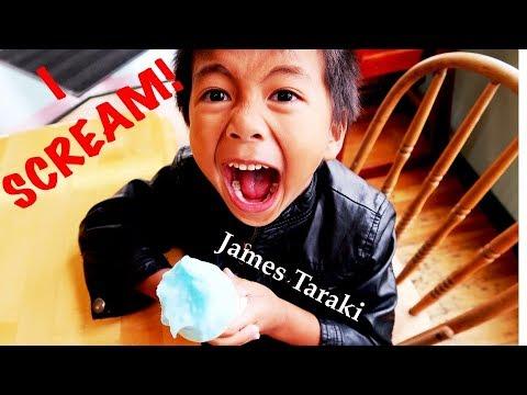 I Scream | The Ground is Lava Play  | James Taraki Eating Yummy Ice Cream Challenge | Mud Puddle