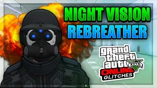 GTA 5 Online - NIGHT VISION, REBREATHER, AND HELMET Outfit Glitch 1.38!  (Cool Modded Clothing)