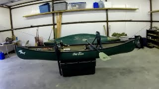 Fishing canoe setup. Why I bought a canoe over a kayak.(Just a short video showing my new fishing canoe rig. Also my cat, his name is Newton, he is a pest. Pictures of my fishing adventures: ..., 2014-11-05T03:57:21.000Z)