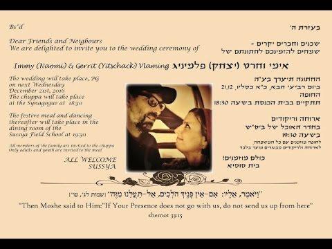 Jewish Wedding Of Yitschack (Gerrit) & Naomi (Immy) Vlaming In Susya