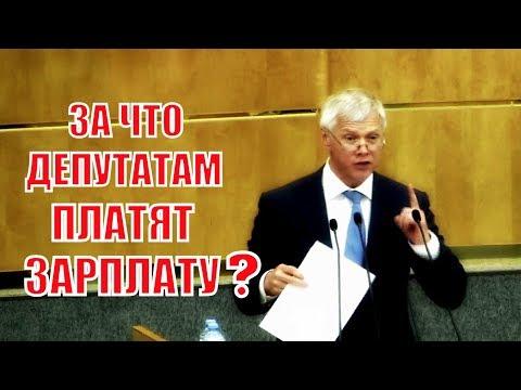 Отличное выступление Депутата ГД В. Гартунга: За что нам платят зарплату?