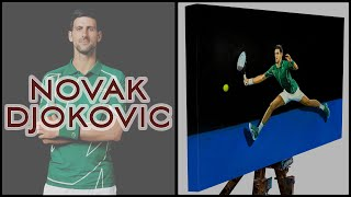 Novak Djokovic The Spiderman ATP Tennis Oil on Canvas - Sports Art 6 | The Berlin Tennis Gallery
