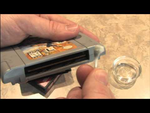 Classic Game Room - HOW TO CLEAN GAME CARTRIDGES!