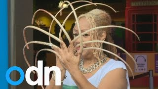 Nail Queen's Massive 23 Inch Nail Suddenly Snaps