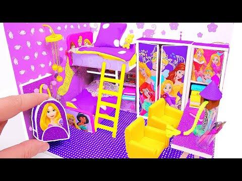 DIY Miniature Rapunzel Dollhouse Room ~ Backpack