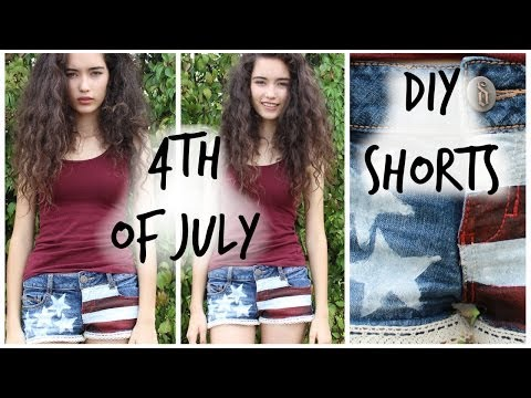 DIY USA Flag Shorts For The 4th Of July!