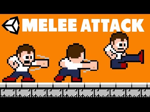 2D Game Dev Tutorial -  Melee Attacking in Unity (Sprites included) thumbnail
