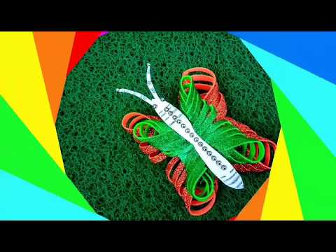 How To Make Paper Butterfly Kids Paper Craft Republic Day Tricolor