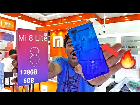 Hindi | Mi 8 Lite Unboxing 🔥Aurora Blue🔥 128GB 6GB. Available In Dubai