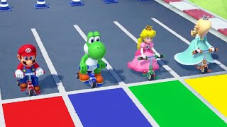 Super Mario Party - Minigames - Mario vs Peach vs Yoshi vs Rosalina