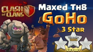 Clash of Clans | Max TH8 GoHo 3 Star - Attack Strategy in Clash of Clans