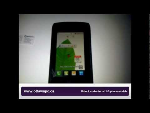 How to Unlock LG Breeze GW525 GW520 Cookie Calisto Telus At&t T-mobile by code Instructions