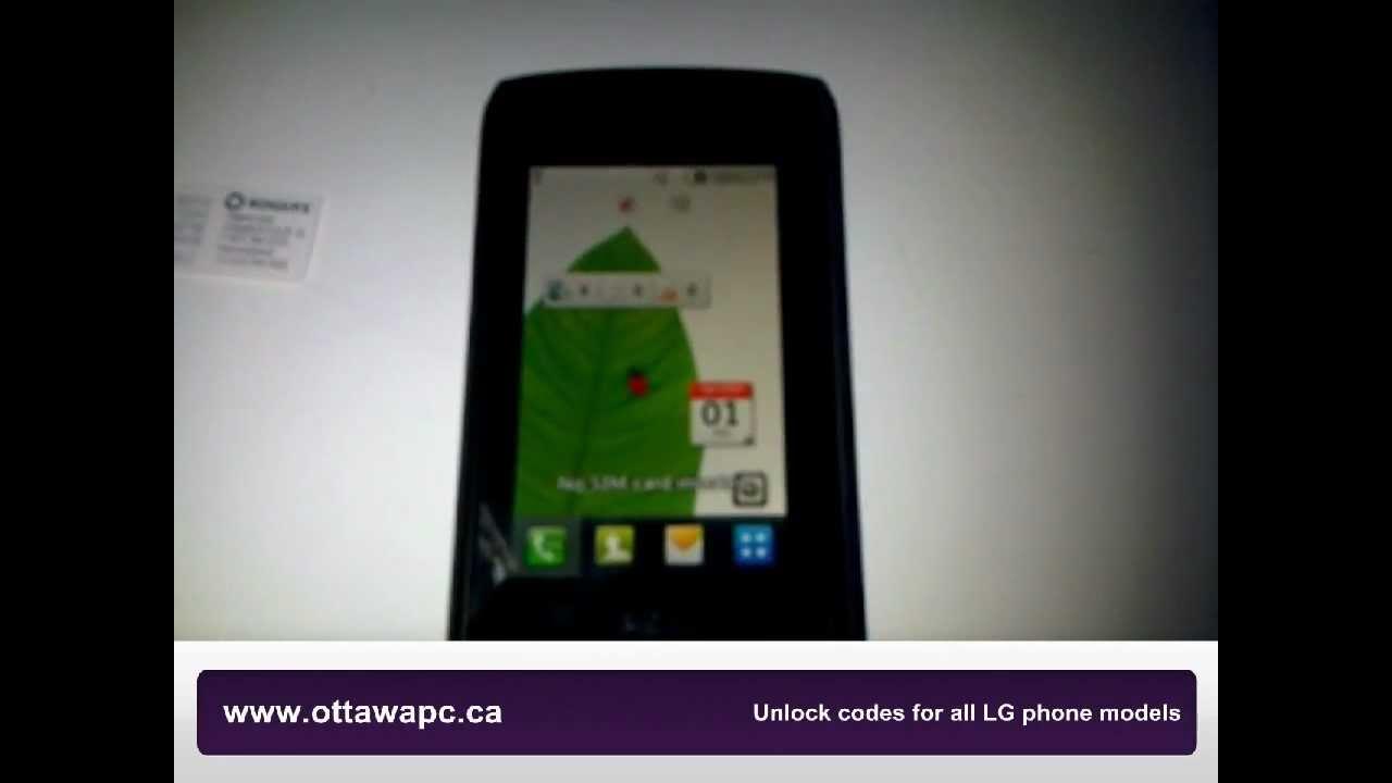 how to unlock lg breeze gw525 gw520 cookie calisto telus at t t rh youtube com Verizon LG User Manual LG User Manuals
