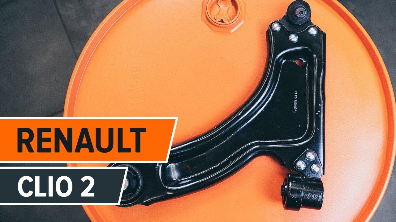 Cоmo cambiar brazo de suspensión delantero RENAULT CLIO 2 ...