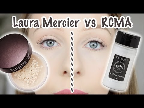 ❤ TEST pudrów: Laura Mercier Translucent Loose Setting Powder vs RCMA ❤