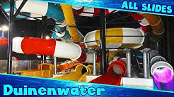ALL FUNNY WATER SLIDES at Sportoase Duinenwater!! Knokke-Heist [Compilation]