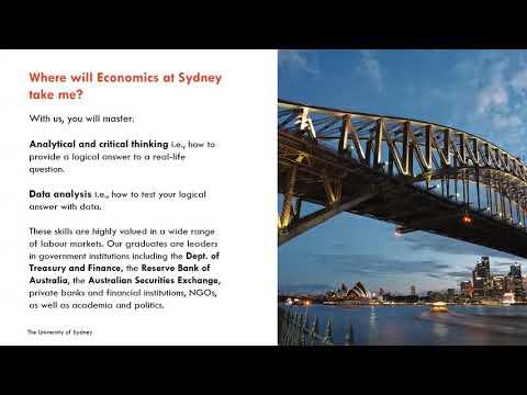 Life at Sydney 2020 - Economics at Sydney