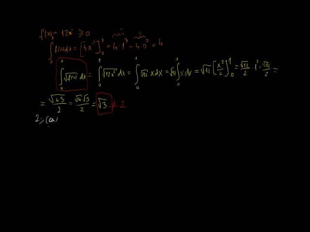 Helyettesítés és görbék által közbezárt terület - Megoldások 7