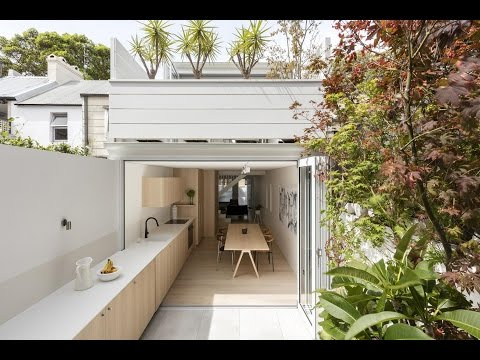 Modern Terraced House Renovation Idea with Double Outdoor Spaces